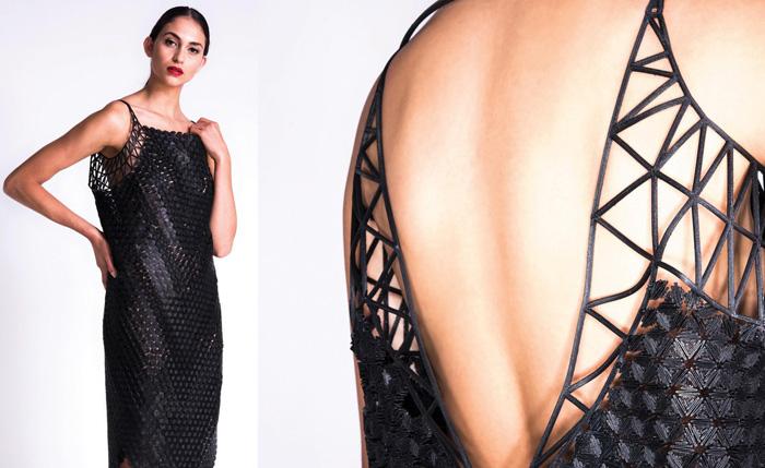 Черное платье от Danit Peleg.