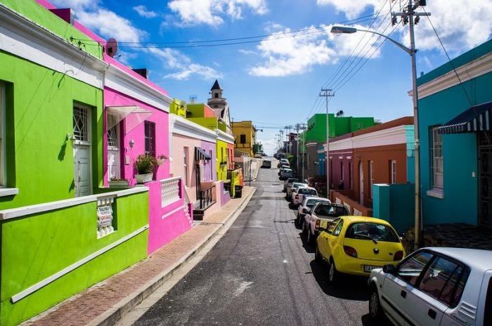 Цветные жизнерадостные улицы Кейптауна.