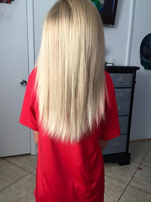 Длина волос через два с половиной года.