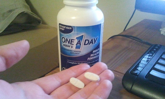 По одной таблетке в день.