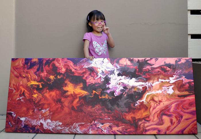 У пятилетней Касси уже было три собственных выставки.
