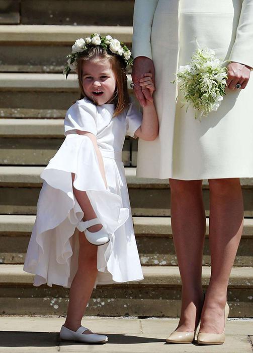Шарлотта после окончании церемонии.