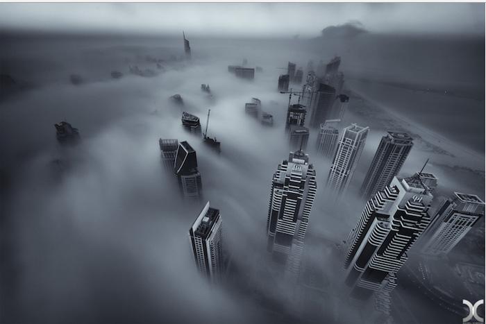 Ночной Дубаи.