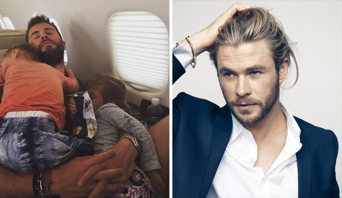 Крис Хемсворт - австралийский актер и папа троих детей.