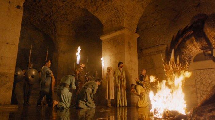 Подвал дворца Диоклетиана в Сплите - Место заточения дракона.