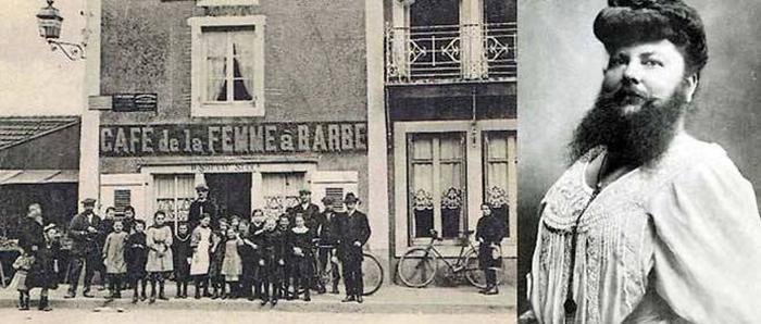 Вместе с мужем Клементин переименовала свое кафе в«Кафе бородатой женщины».