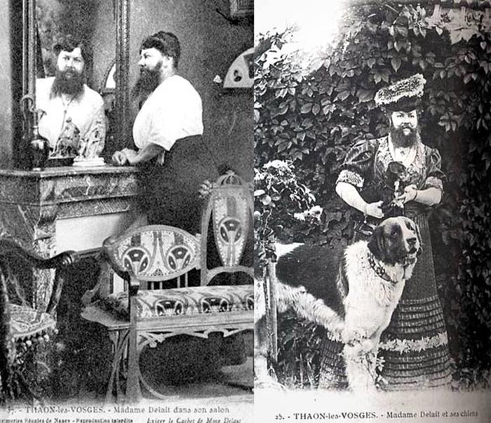 В кафе Клементин можно было купить открытки и подписанные фотографии с изображением бородатой Клементин.