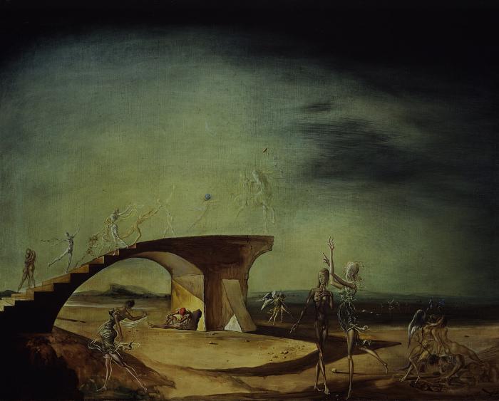 Сальвадор Дали *Разбитый мост и мечта* 1945 г. Та же тема, что и у Mary Blair.