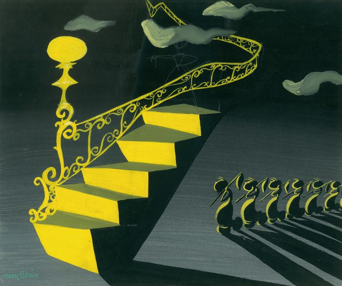Работа одной из авторов студии Дисней Mary Blair вполне отвечает канонам сюрреализма.