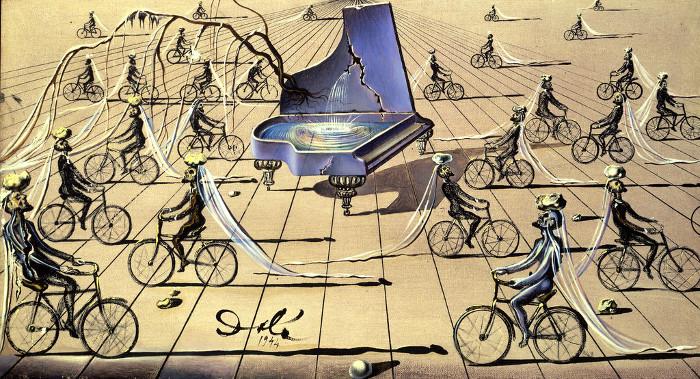 Этюд для Сентиментального коллоквиума. Сальвадор Дали. 1946г.