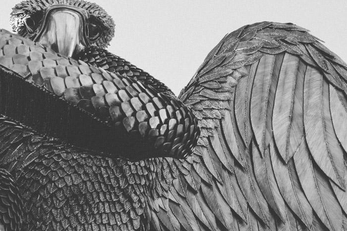 Деталь работы *Орел и Змея*.