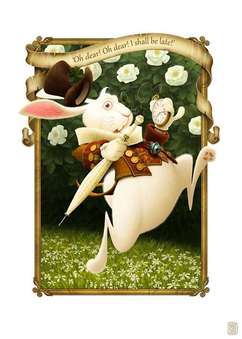 Иллюстрация к *Алисе в Стране Чудес.*  Автор: Denis Zilber.