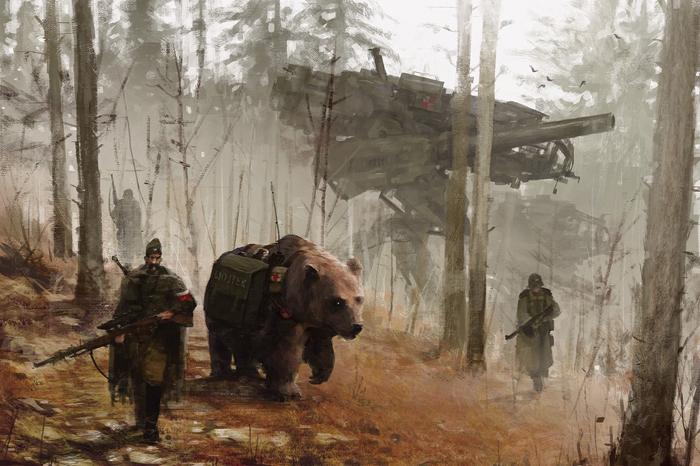 В диких лесах. Охота на картине Якуба Розальски.