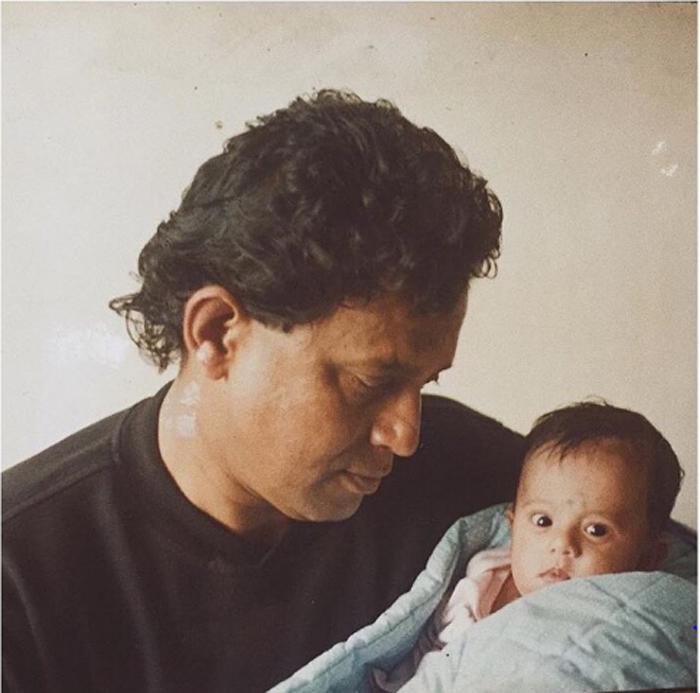 Митхун Чакраборти с малышкой Дишани. Instagram dishanichakraborty.