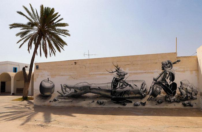 Работа DOME из Германии. Фото:  Mohamed Messara.