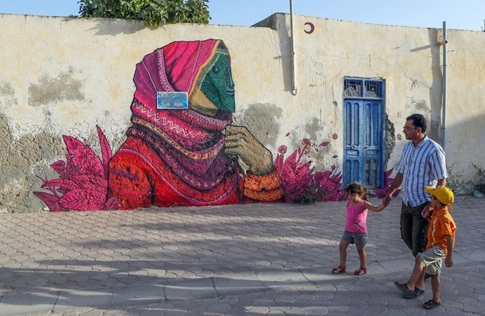 Работа Saner из Мексики. Фото:  Mohamed Messara.