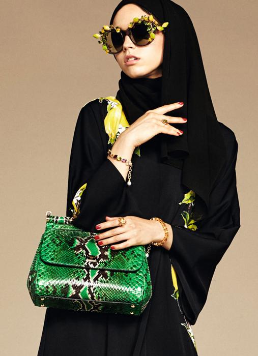 Принты с лимонами.The Dolce & Gabbana Abaya Collection.