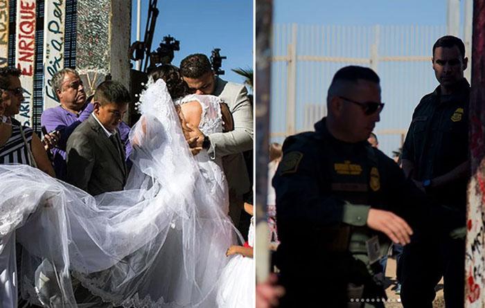 Врата надежды дали возможность паре из разных стран жениться.