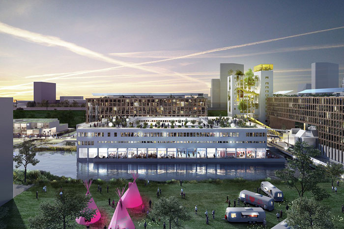 Как планируется выглядеть жилой комплекс Bijlmerbajes после окончания работ.