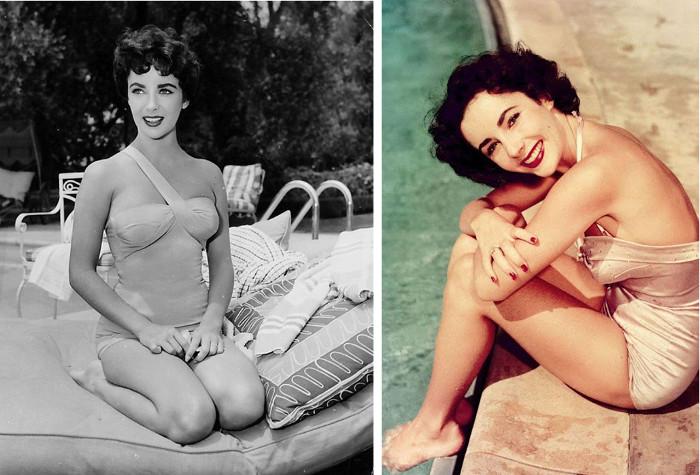 Великолепная Элизабет Тейлор и мода купальников 1940-50х годов.