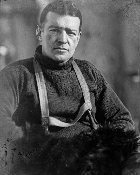 Эрнест Шеклтон во время экспедиции.