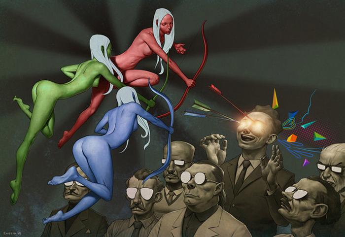 Странные иллюстрации Джереми Энесио.