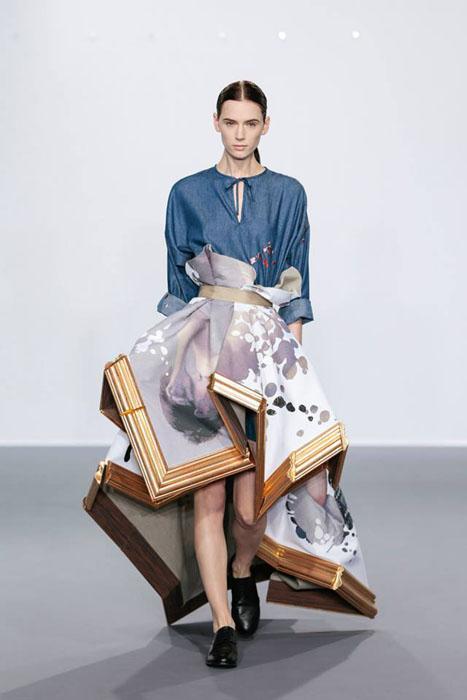 Замысловатые наряды от Viktor & Rolf, обыгрывающие классические полотна голландских художников.