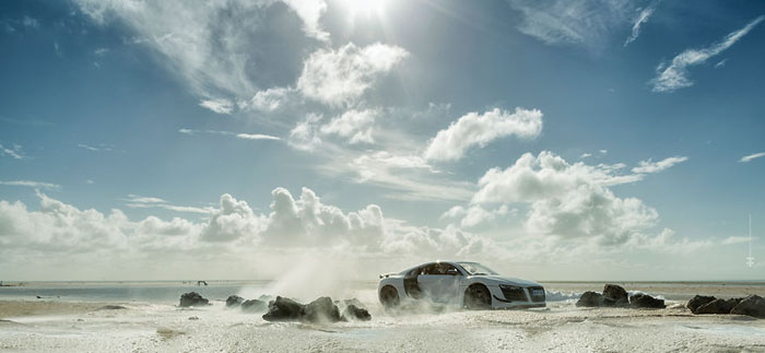 Реклама Audi R8 в исполнении фотографа Феликса Хернандеса Родригеса.