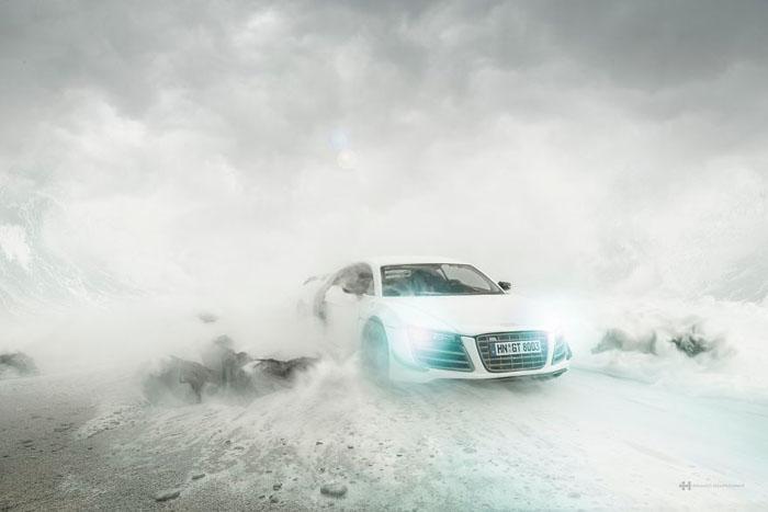 Реклама дорогостоящего автомобиля без участия самого автомобиля.