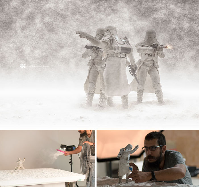 Штурмовики в снегу. Фото: Felix Hernandez Rodriguez.