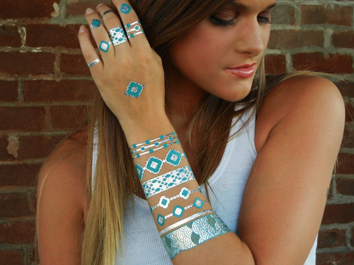 Flash tattoos.