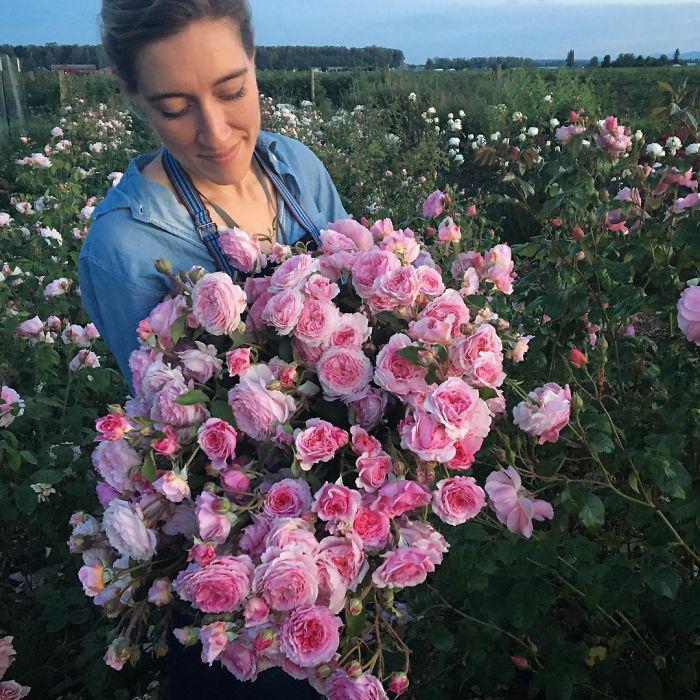 Букет роз.  Instagram floretflower.