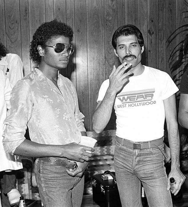 Фредди Меркьюри и Майкл Джексон.