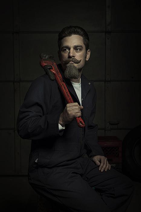 Портрет механика.  Автор фото: Freddy Fabris.