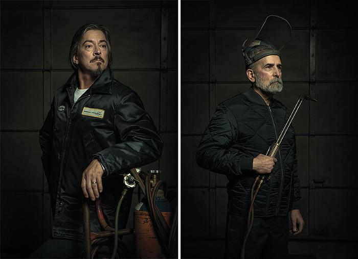 Портреты автомехаников в стиле картин Рембрандта.  Автор фото: Freddy Fabris.