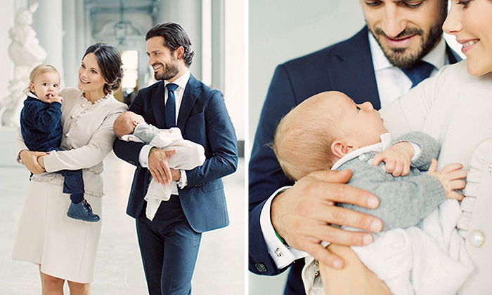 Новорожденный принц Швеции.