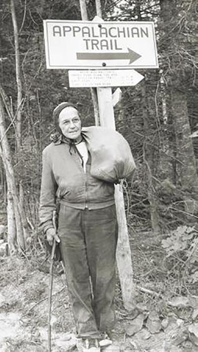 Эмма Гейтвуд на Аппалачской тропе.