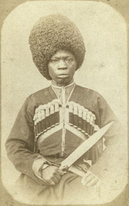 Афро-абхазский горец. Фото: George Kennan.