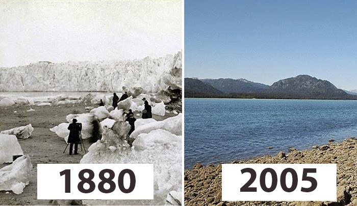 Ледники тогда и сейчас.