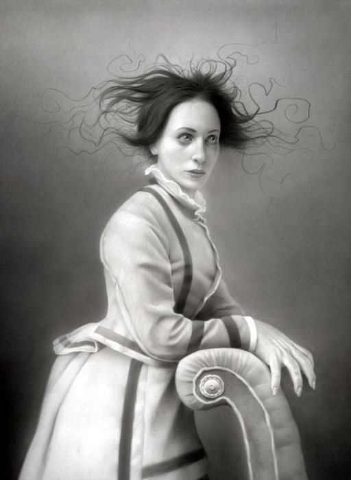 Картина Travis Louie из частной коллекции Гильермо дель Торо.