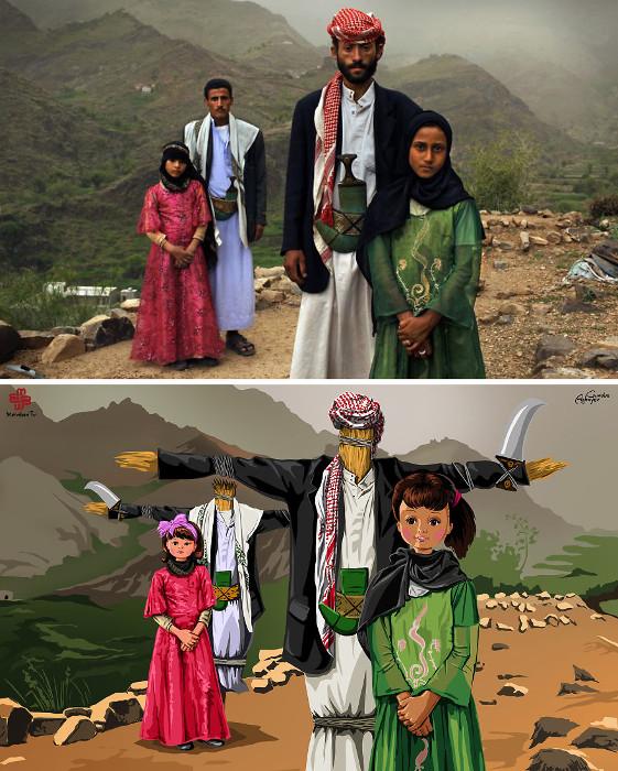Девочки, которых насильно отдают замуж в Афганистане. На фото невеста Тегани (в розовом) и Гада.