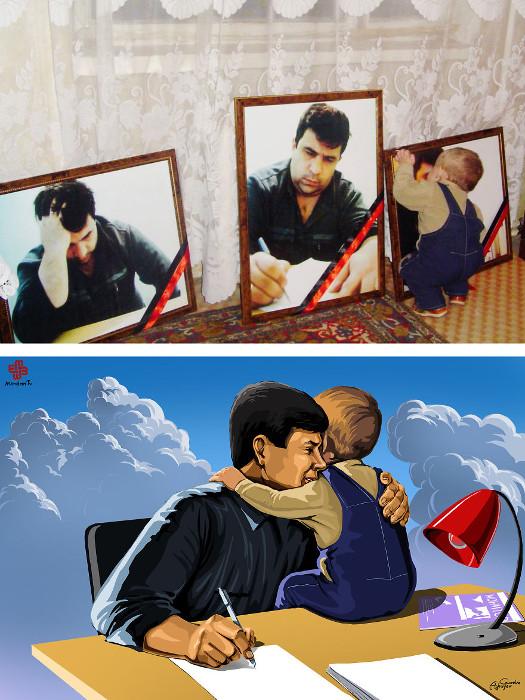 Сын убитого журналиста из Азербайджана Элмара Хузейнова.