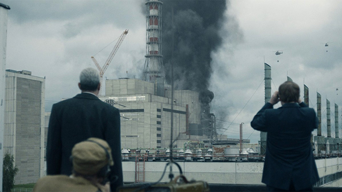 Кадр из сериала *Чернобыль*.