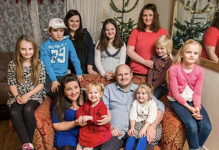 В семье Ханнов 13 детей, трое старших из которых уже живут отдельно.