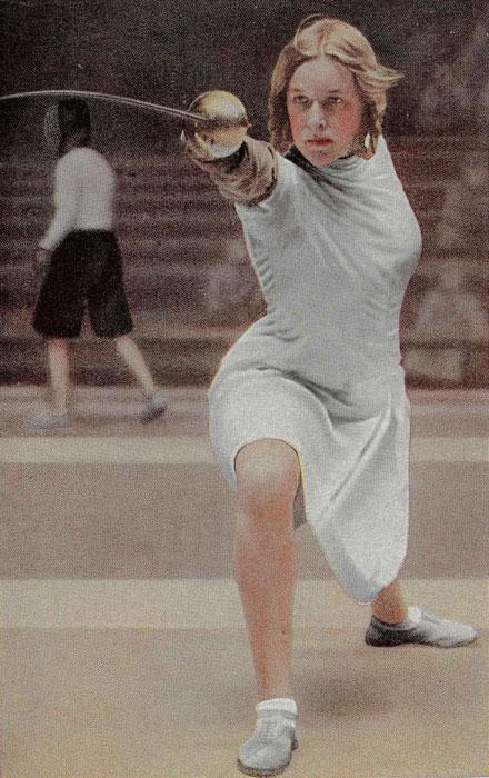 Фото из газеты: Хелена Майер на Олимпийских играх в Лос-Анжелесе, 1932 г.
