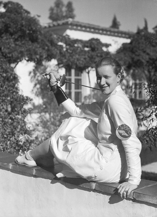 Майер во время пребывания в Калифорнии, 1934 г.