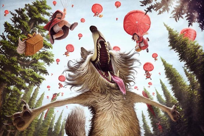 Это просто праздник какой-то! (вариант с волком)  Автор: Tiago Hoisel.