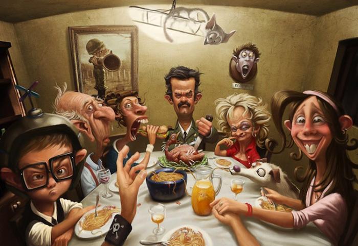 Семейный ужин. Автор: Tiago Hoisel.