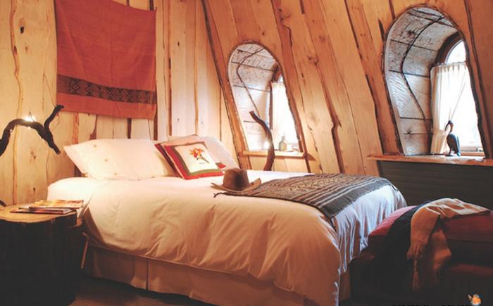Спальня в Магическом Горном Отеле.