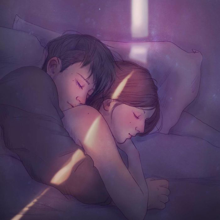 Спать в обнимку.  Автор: Hyocheon Jeong.